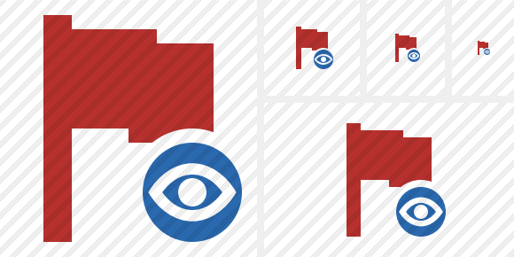Flag Red View Icon