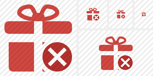 Gift Cancel Icon