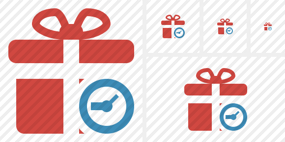 Gift Clock Icon