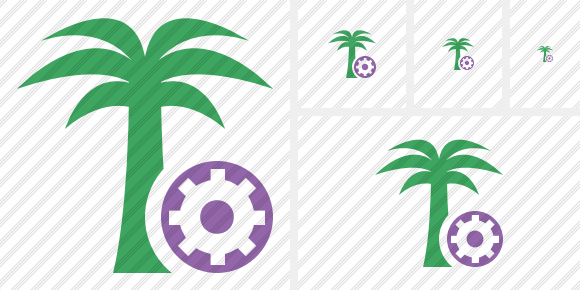 Palmtree Settings Symbol