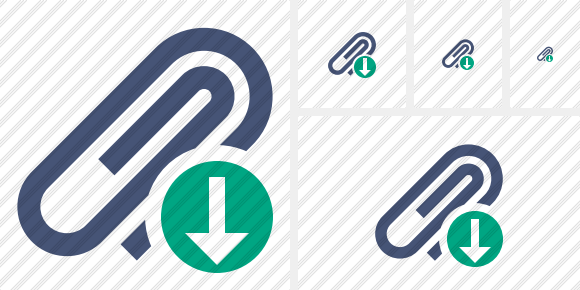 Paperclip Download Symbol