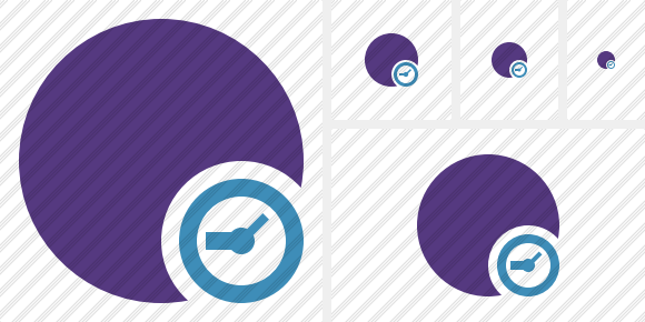 Point Purple Clock Icon