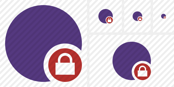 Point Purple Lock Symbol