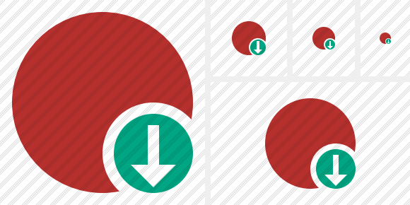 Point Red Download Symbol