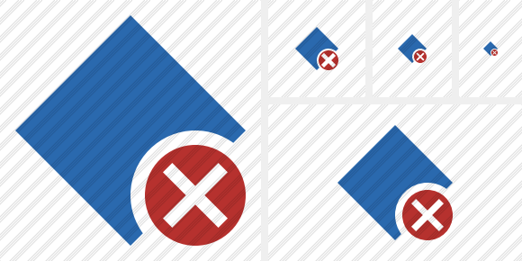 Rhombus Blue Cancel Icon