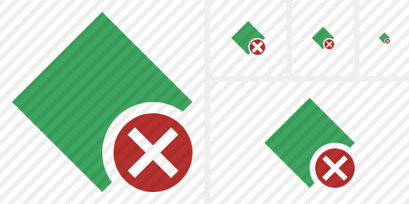 Rhombus Green Cancel Icon