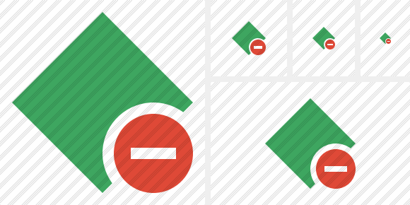 Rhombus Green Stop Icon
