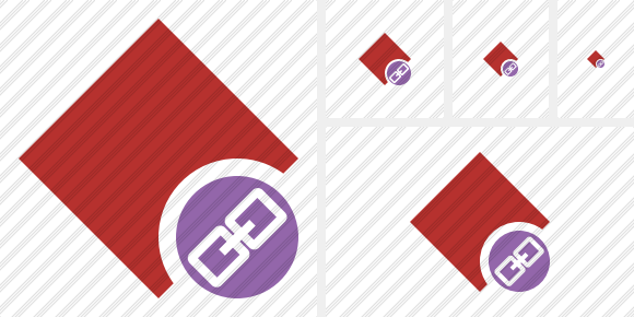 Rhombus Red Link Icon
