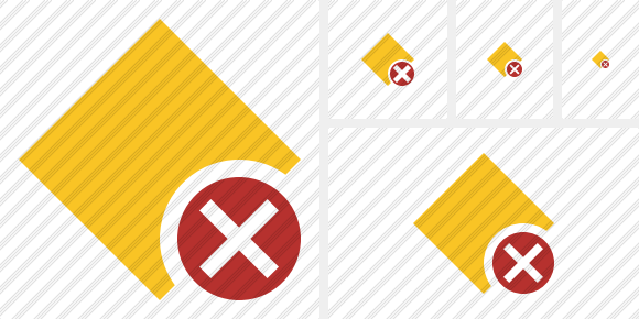 Rhombus Yellow Cancel Symbol
