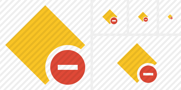Rhombus Yellow Stop Icon