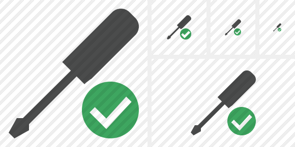 Screwdriver Ok Icon