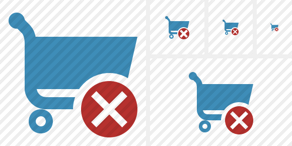 Shopping Cancel Symbol