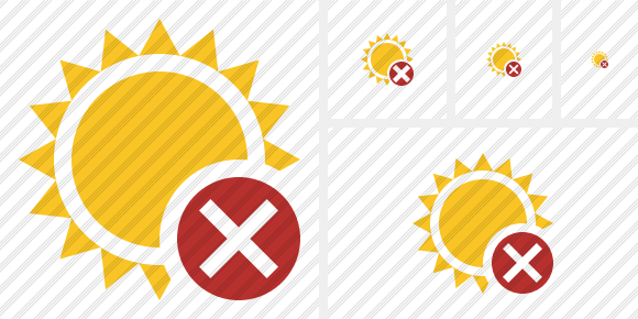 Sun Cancel Icon