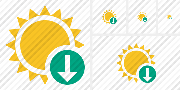 Sun Download Symbol