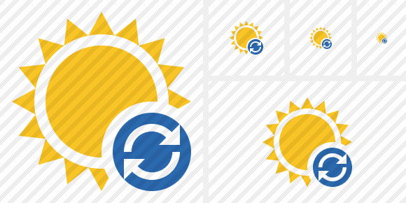 Sun Refresh Icon