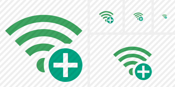 Wi Fi Green Add Symbol