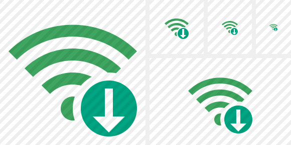 Wi Fi Green Download Symbol