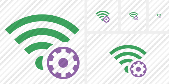 Wi Fi Green Settings Symbol