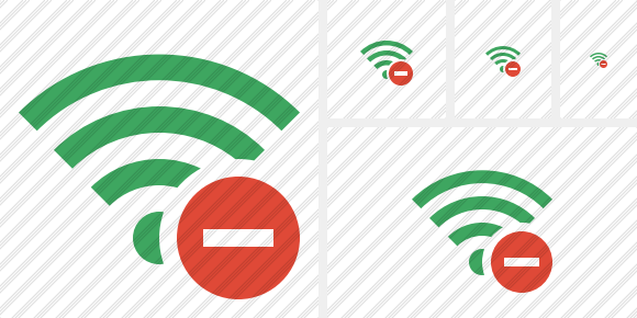 Wi Fi Green Stop Icon