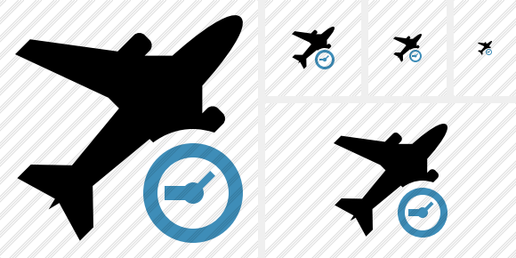 Airplane Clock Icon