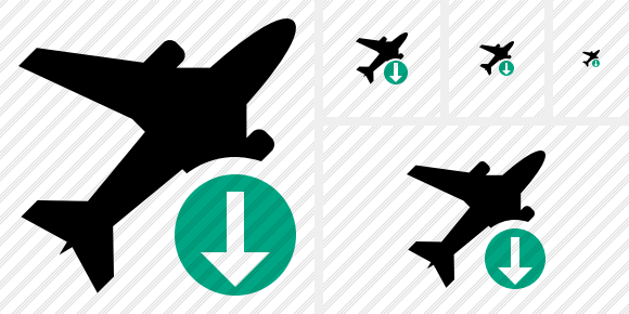 Airplane Download Symbol