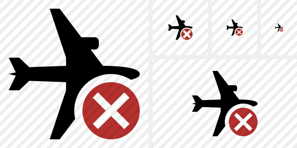 Airplane Horizontal Cancel Symbol