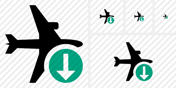 Airplane Horizontal Download Symbol