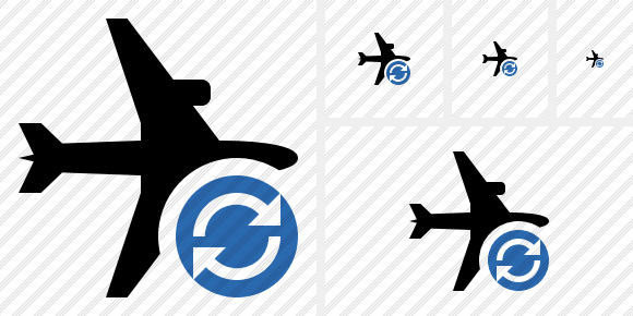 Airplane Horizontal Refresh Icon