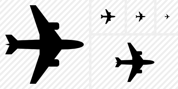 Airplane Horizontal Symbol
