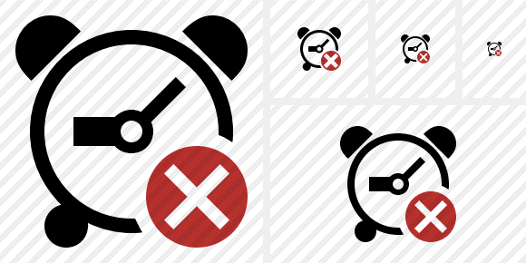 Alarm Clock Cancel Icon