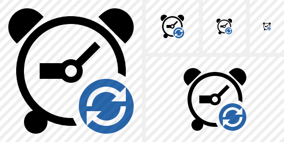 Alarm Clock Refresh Icon