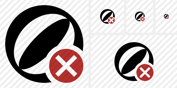 Beach Ball Cancel Symbol