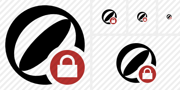 Beach Ball Lock Symbol