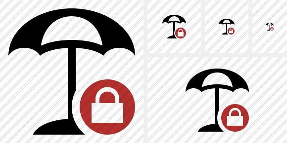 Beach Umbrella Lock Symbol