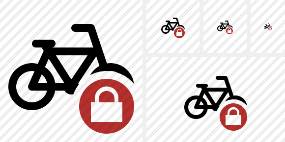 Bicycle Lock Symbol