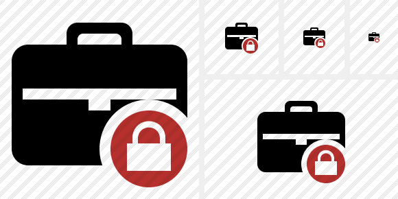 Briefcase Lock Icon