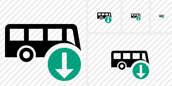 Bus Download Symbol