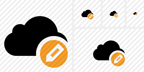 Cloud Edit Symbol