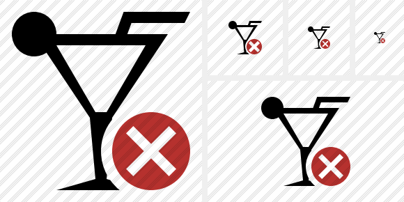 Cocktail Cancel Symbol