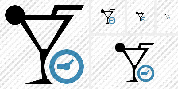 Cocktail Clock Icon
