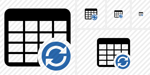 Database Table Refresh Icon