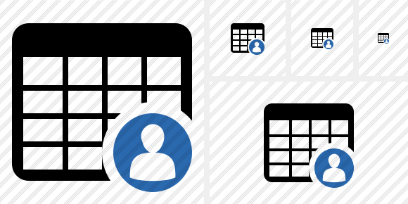 Database Table User Icon