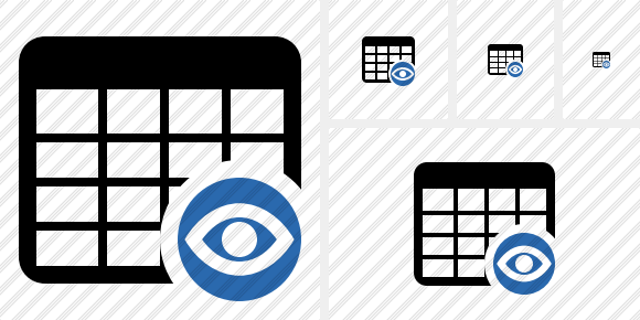 Database Table View Icon