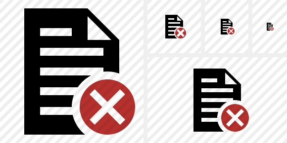 Document Cancel Symbol