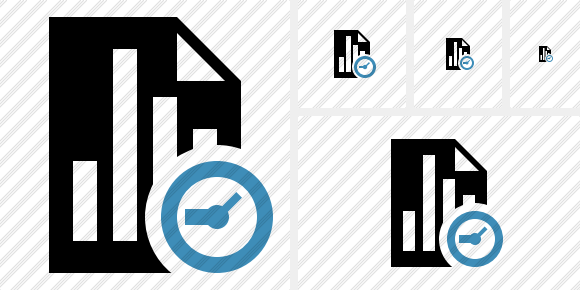 Document Chart Clock Symbol
