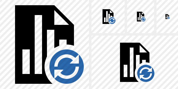 Document Chart Refresh Icon