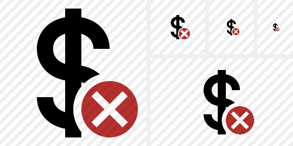 Dollar Cancel Symbol