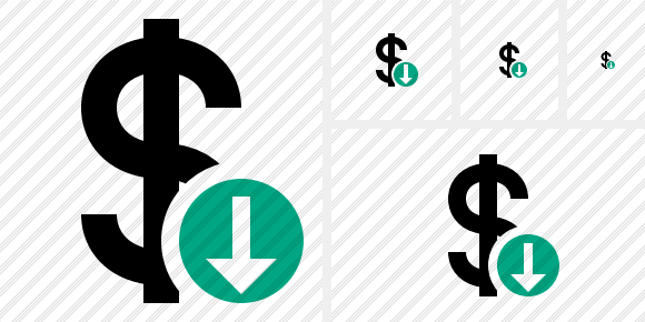 Dollar Download Symbol