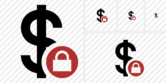 Dollar Lock Icon