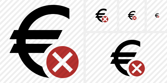 Euro Cancel Icon